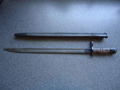 M1917 bayonet - is scabbard right?