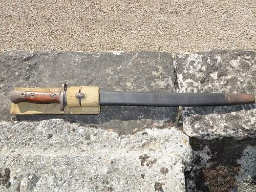 British bayonets