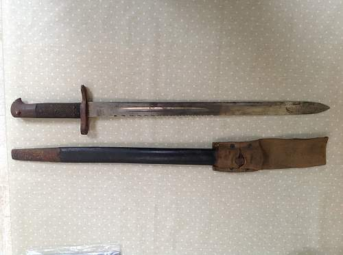 Help required to identify a bayonet please!