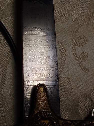 1800's General Officer's Sabre.........