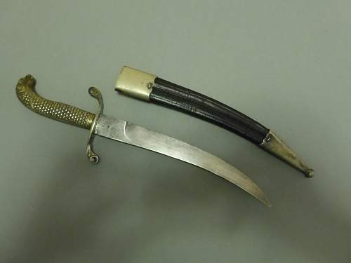 19th Century curved Naval Dirk with Screaming Eagle's head made by F.Herder ANY INFO WELCOME