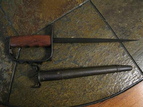 US 1917 trench knife Spiked Trench Knife