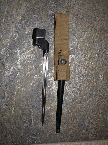 British Lee Enfield Cruciform Bayonet