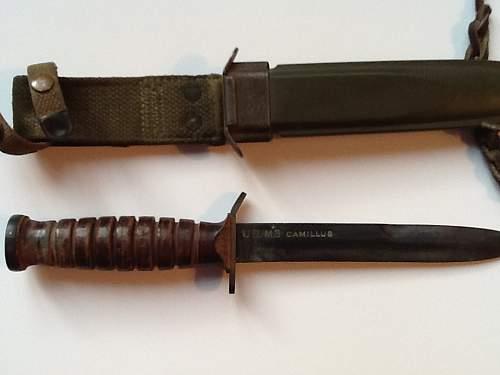 WW2 Camillus Trench Knife M3