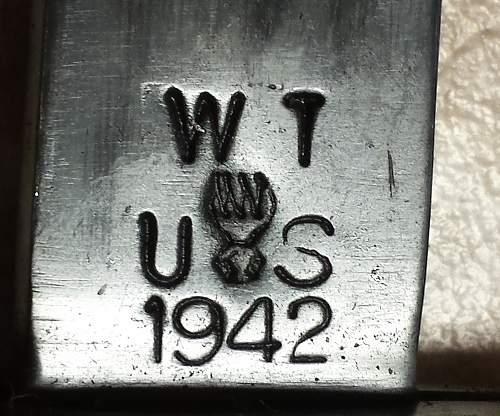 1942 Wilde Tool Garand Bayonet Uncut