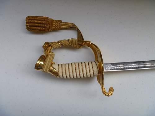 Post WW2 US M1852 Navy Officer Sword
