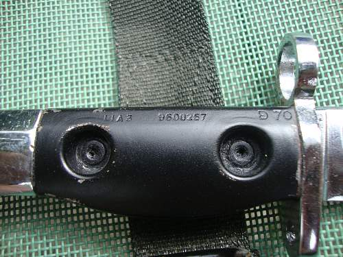 Ceremonial L1A1 Bayonet