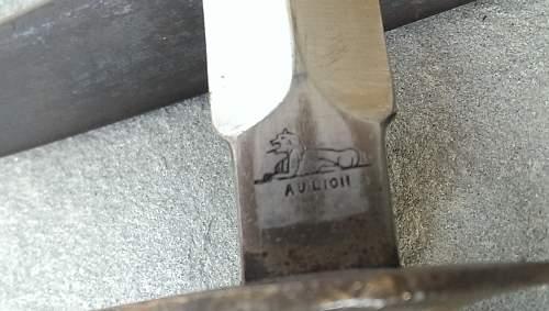 WWI Mk1 1918 Au Lion Trench Knife