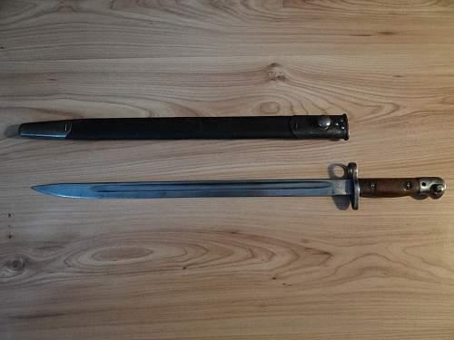 1907 year old bayonet