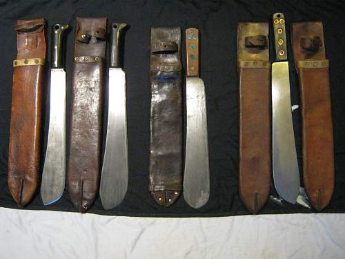 is it possible to date unmarked brit machettes and sheaths?
