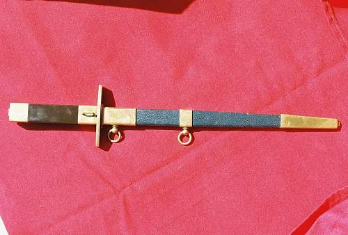 French air force dagger with Fasces on handle
