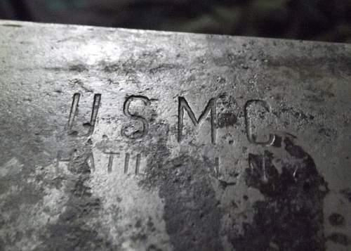 USMC.machete and scabbard..