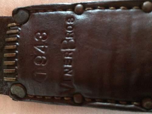 ww1 reissued brass knuckles/trench knife