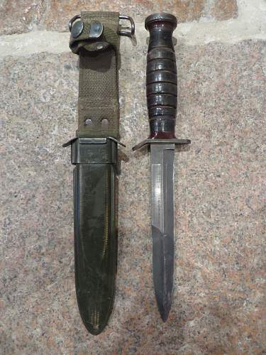 US M3 knife with M8 scabbard.