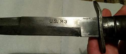 m3 knife, is it genuine