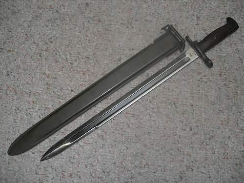 SA 1906 Bayonet & USN MK 1 Scabbard