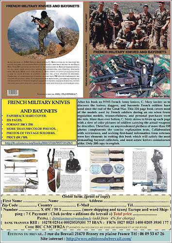 Click image for larger version.  Name:Publicité livre French Military Knives and Bayonets version anglaise 08 02 2016.jpg Views:47 Size:256.3 KB ID:970615