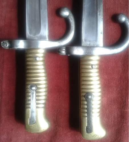 Conversion Chassepot bayonet