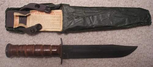 Unissued USN Mark 2 WWII Fighting Knife