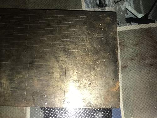 table from the red army artillery found at easternfront