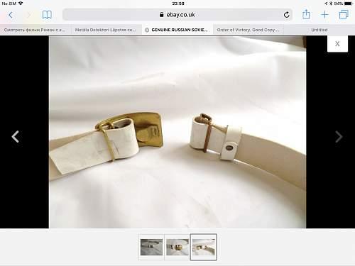 Postwar Soviet white belt????????