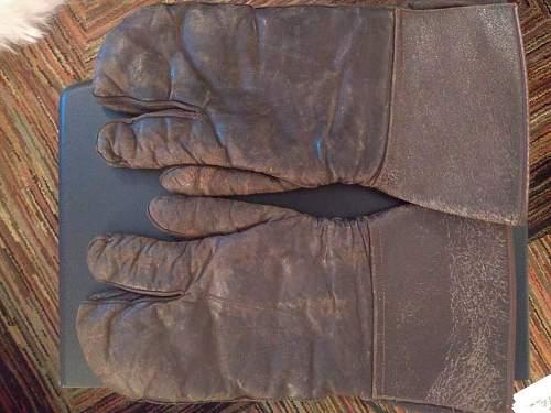 1930s German Motorcycle/Winter Gloves