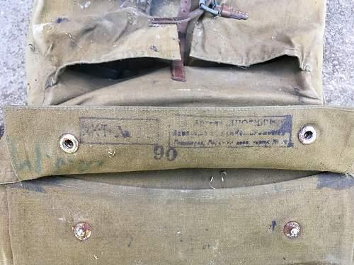 1936 pattern officer's knapsack.