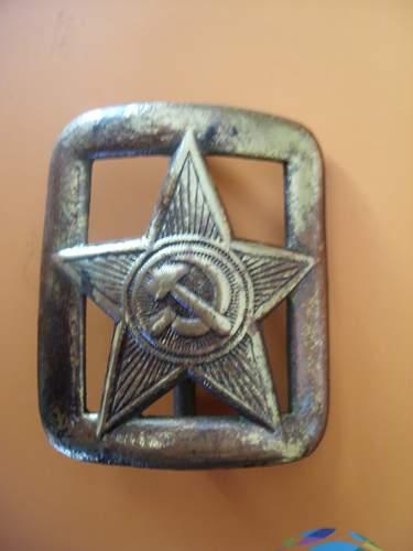 Soviet belt buckle ( infantry)