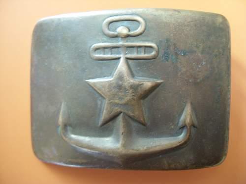 SOVIET BELT BUCKLE ( naval)