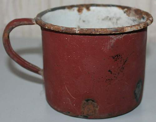 """USSR soldier tea mugs - """"Kruzhka"""""""