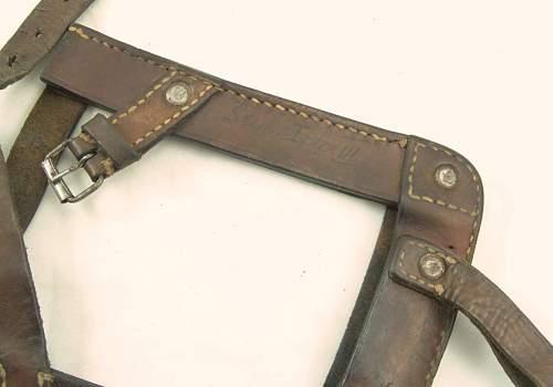 WW2 period RKKA leather shovel cover