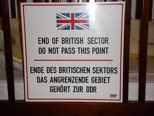 Sign from Berlin wall checkpoint