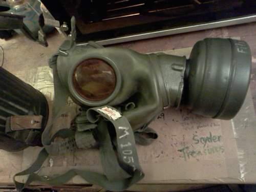 Soviet GP5 mask display