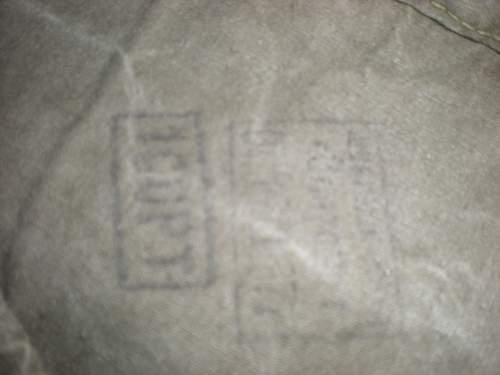 Stamps/markings in soviet field equipment