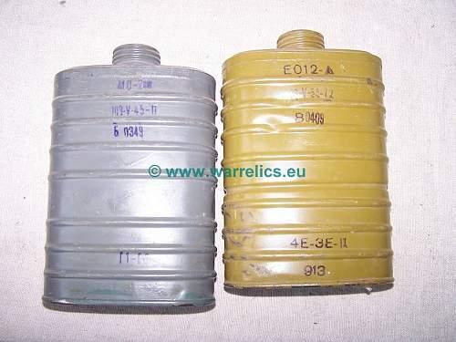 RKKA Gasmask filters - textbook
