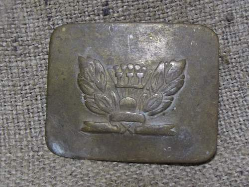 Russian 1917 buckle ??? unusual..identification required !!! thanks