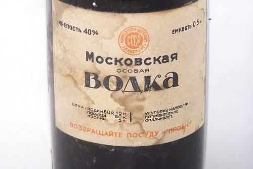 The vodka bottle- Moskovskaya osobaya