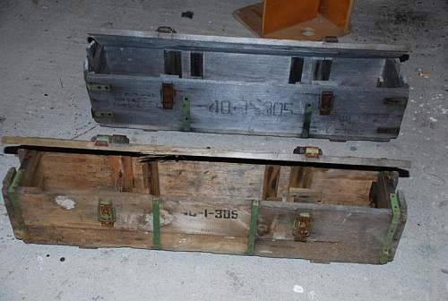wooden ammunition crates... sovietic?