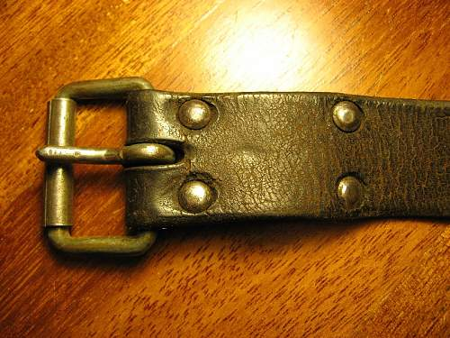 WWII Red Army enlisted men leather belt?