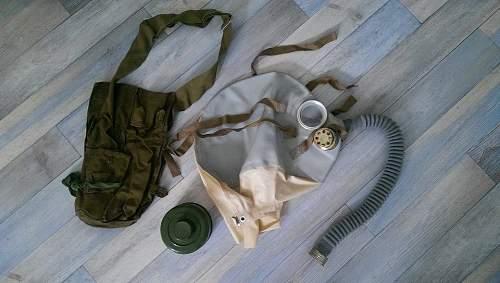 4 Russian gas masks.