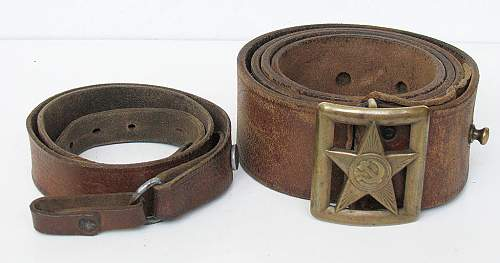 Click image for larger version.  Name:Red Army M35 Officer Belt and Shoulder Strap (1).jpg Views:88 Size:117.5 KB ID:772230
