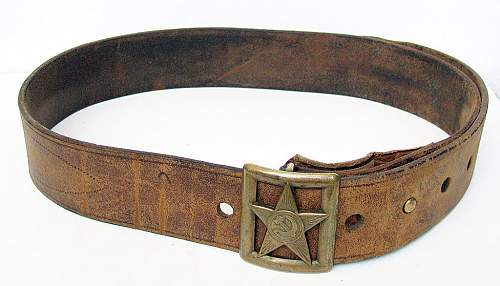 Click image for larger version.  Name:Red Army M35 Officer Belt and Shoulder Strap (3).jpg Views:92 Size:147.0 KB ID:772232