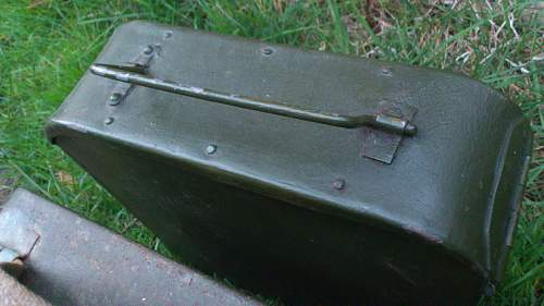 Steel Handle Riveted Maxim Ammo Tin ID