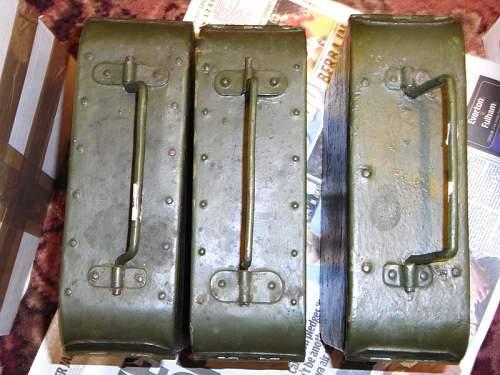 Steel Handle Riveted Maxim Ammo Tin ID