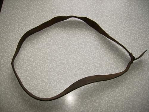 Unknown leather belt.