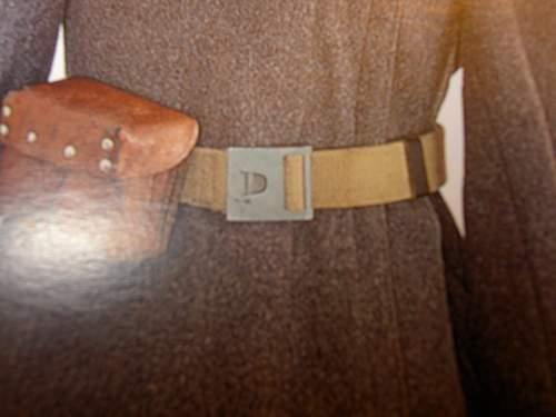 Blockade made Army Belt buckle