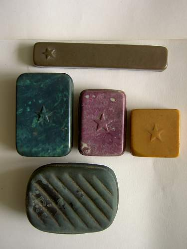 RKKA bakelite -  soap,toothbrush containers