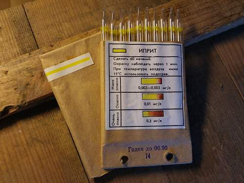 Complete Soviet Chemical recoinnasance kit from 1985