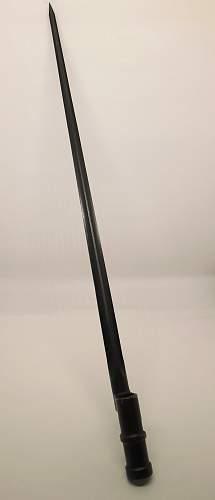 M 91/30 Mosin-Nagant socket bayonet with retaining mechanism