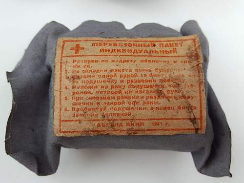 First aid: RKKA bandages and medic tools